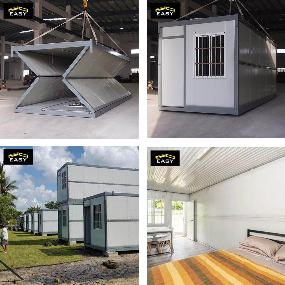 freight city folded container homes plan